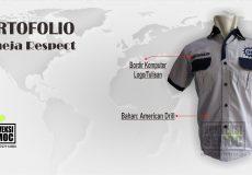 [Portofolio] kemeja respect- american drill hasil pembuatan konveksi semoc semarang